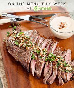 Weekly sample menus strip steak