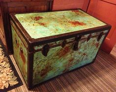 Oxidized and Patinated Trunk | Project by Hoity Toity Peacock | Modern Masters Cafe Blog