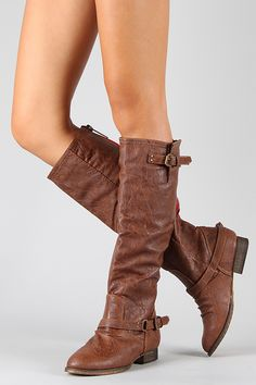 Just bought these lovely boots, only $34, can't wait to wear them in the fall. Breckelle Outlaw-81 Buckle Riding Knee High Boot.