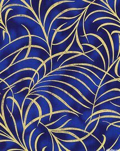 Plume - Golden Feathers - Sapphire/Gold