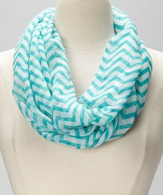 Take a look at this Polka Dotsy Turquoise Zigzag Infinity Scarf on zulily today!