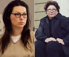 #oitnb Laura Prepon as Alex Vause..The Real Alex Vause on the right.