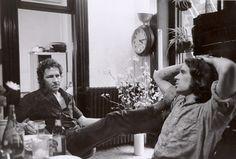 Robert Rauschenberg with then-assistant Brice Marden, New York, 1968; photo by Henri Cartier-Bresson