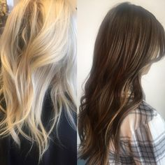 Before & afters are the best way to see how amazing our hair is #ReflexionHairExtensions