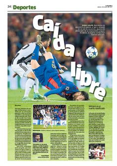 Newspaper design by Ricardo Cervera, Augusto Nieves y Tania Fernández. La República, Perú