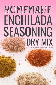 Make your own homemade enchilada seasoning mix! You can use this dry mix to add flavor to any number of recipes or use it to make delicious homemade enchilada sauce! This clean eating recipe is so much better than store bought sauces or seasoning packets! Homemade Dry Mixes, Homemade Spice Blends, Homemade Spices, Homemade Seasonings, Spice Mixes, Enchilada Seasoning Recipe, Homemade Enchilada Sauce, Homemade Enchiladas, Seasoning Mixes