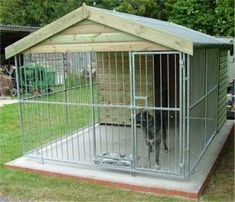 Wow check out this exciting photo - what an inventive innovation . Wow check out this exciting photo – what an inventive innovation … Wow check ou Dog Kennel Outside, Outside Dogs, Cheap Dog Kennels, Diy Dog Kennel, Kennel Ideas, Cheap Dog Cages, Dog Enclosures, Dog Kennel Designs, Dog Yard