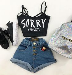 😍 - moda_e_chic - insta Web Teenage Outfits, Teen Fashion Outfits, Fashion Wear, Outfits For Teens, Girl Outfits, Really Cute Outfits, Cute Swag Outfits, Stylish Outfits, Jugend Mode Outfits