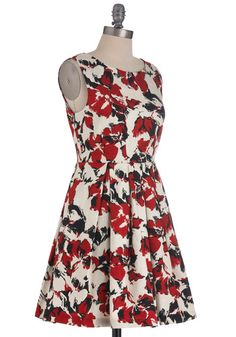 One in the Flame Dress, #ModCloth