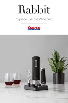 Open, serve and preserve! The Rabbit Electric Corkscrew Set is a must for wine enthusiasts! Costco, Drinkware, Cool Gifts, Preserve, Rabbit, Wine, Mugs, Inspiration, Mug