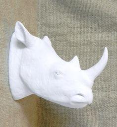 Taxidermy Rhino Head Wall Mount Modern Wall Decor