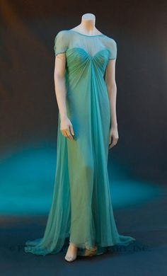 Title:  Evening Gown  Date:  Spring/Summer 1989  Designer:  Bohan, Marc for Christian Dior  Material:  Silk/ Synthetic/ Metal