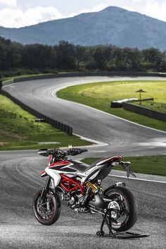 2013 Ducati Hypermotard rear 3/4