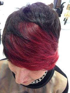 #pixie #red #flequillo
