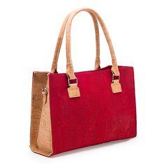 Kork Tasche «Artelusa» rot – Fair Fashion aus Portugal Portugal, Pattern, Bags, Fashion, Unique Bags, Laptop Tote, Sustainable Fashion, Handbags, Red