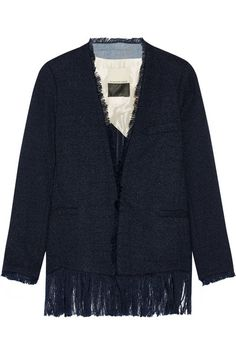7e0b0420151a9 By Malene Birger - Sineaka frayed bouclé blazer. Find this ...
