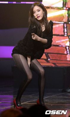T Ara Hyomin, Move Along, Asian Fashion, Goth, Stockings, Singer, Womens Fashion, Black, Korea