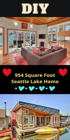Tiny House Trailer Plans, Tiny House Plans, Life Hacks Websites, Little Houses, Small Houses, Beautiful Small Homes, Seattle Homes, Mansion Interior, Small Places