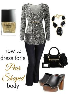 How to dress for a pear shaped body