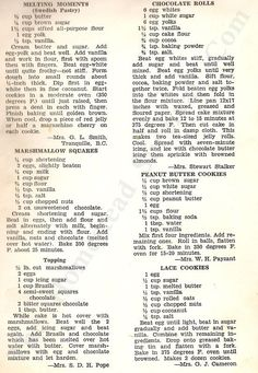22 Vintage Delicious Desserts Recipes from 1952 and the year of my birth!