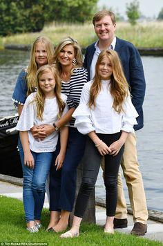 Famille royale Willem-Alexander et Máxima (Zorreguieta) des Pays-Bas