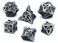 Celtic Dice Set 3d printed 3D Render