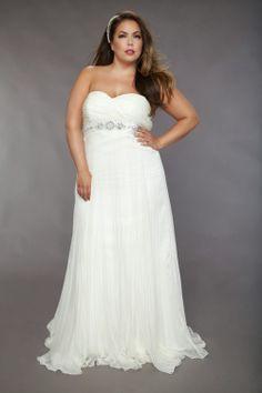 plus reception dress
