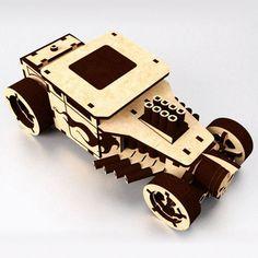 Bone Shaker - laser cut 3D puzzle