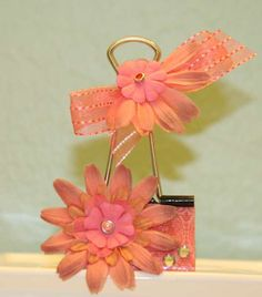 Other: Flower #3 Altered Binder Clip