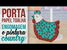 Porta Toalha com Engomagem e Pintura Country {Galinha}