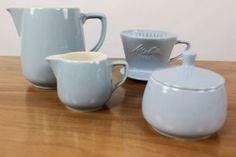 Melitta-Minden-Service-Geschirr-Teile-Pastell-Blau-Filter-101-Kanne-Milch-Zucker