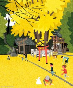 Ryo Takemasa: Cover illustration for Quarterly Magazine Musashino Gravure Illustration, Art Et Illustration, Japanese Prints, Japanese Art, Ryo Takemasa, Illustration Design Graphique, Posca Art, Art Japonais, Illustrations And Posters