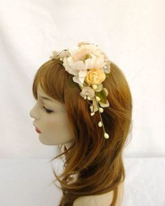 Ivory Flower Crown Bridal Flower Crown Flower by RuthNoreDesigns, $30.00