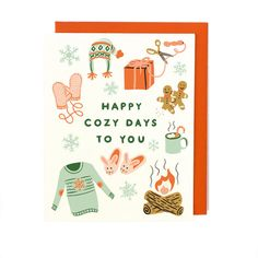 Happy Cozy Days Holiday Card - Singles & Box Set