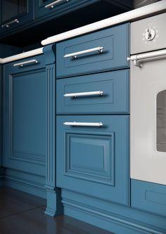 Каталог кухонь | BRISTOL BLUE | Кухни VIRS Bristol, Kitchen, Blue, Cooking, Kitchens, Cuisine, Cucina, Room Kitchen, Kitchen Floor