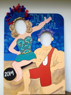 Acrobat and Strongman Photo Prop - Carnival or Circus Themed Event Decoration and Party Prop Circus Carnival Party, School Carnival, Carnival Birthday Parties, Carnival Themes, Circus Birthday, First Birthday Parties, Party Props, Party Themes, Party Ideas