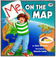 Mapping lesson! Me on the Map! What a great book to use to teach different levels that you could draw a map of. World, continent, country, state, city, neighborhood, and me! Love this book!