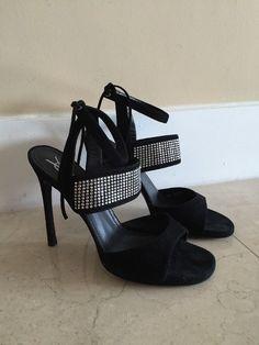 YSL Yves Saint Laurent Black Suede Woman Sandals Heels Pumps Size 40 in Clothes, Shoes & Accessories, Women's Shoes, Heels | eBay