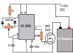 Battery Desulfator Circuit by hitman -- Homemade battery desulfator circuit constructed around an IC 555, diodes, resistors, and a 15V DC power supply. www.homemadetools...