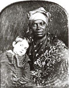 Oscar Menard and his African-American Nursemaid, ca. 1850 | In the Swan's Shadow