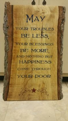 Handmade wooden signs Welcome sign