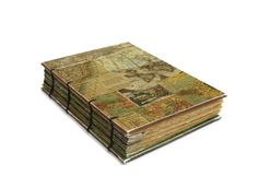 Old World Map Coptic Bound Handmade Journal by Thenibandquill, $32.00