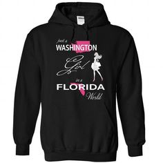 Awesome Tee WASHINGTON GIRL IN FLORIDA WORLD T shirts