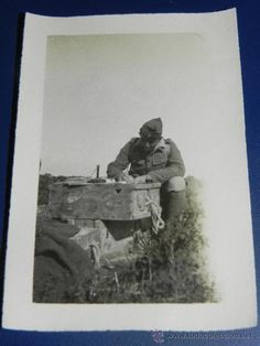 Militaria: ANTIGUA FOTOGRAFIA DE OFICIAL DE LA LEGION, GUERRA DEL RIF, 1925 CAMPAÑA DE MARRUECOS, PROTECTORADO - Foto 1 - 38103662