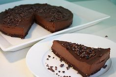 Chocolate Cheesecake (Raw Dairy-Free, Gluten-Free)  - lots of nuts, so certainly not low-fat, but looks yum!