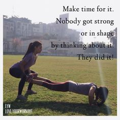 Make time and you can do it!