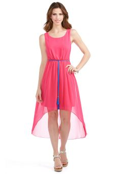 78643e2699c7 High Low Tassel Belt Dress - Plus Dresses Cato Fashions Hot Pink Dresses,  Plus Dresses