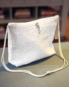 Martha makes a place-mat purse.  (There are tons of different ways to make a placemat purse.  I'll post some of my faves.)