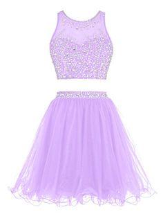 Tideclothes Short Beading Prom Dress Two Pieces Tulle Evening Dress Lavender US2 Tideclothes http://www.amazon.com/dp/B0188EDLYQ/ref=cm_sw_r_pi_dp_QYE.wb1QJY8JG