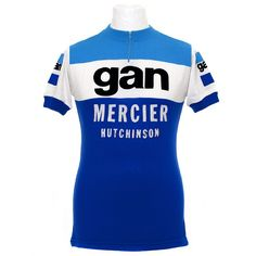 1976 season Gan Mercier Hutchinson pro team jersey. Made by Tricots du Rocher -